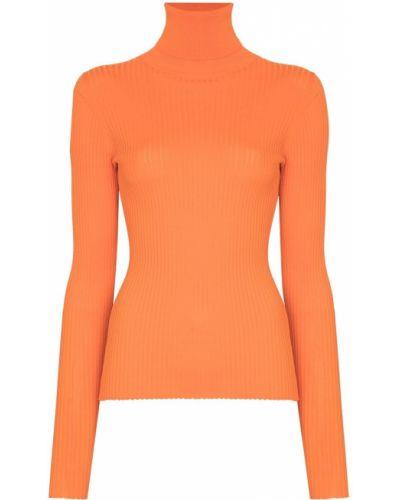 Prążkowany pomarańczowy sweter z wiskozy Dodo Bar Or