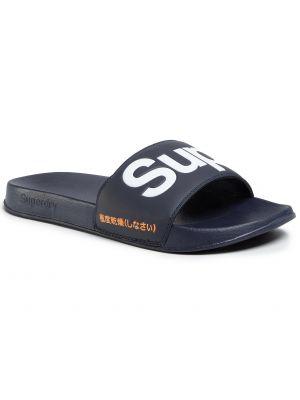 Sandały na basen skórzany Superdry