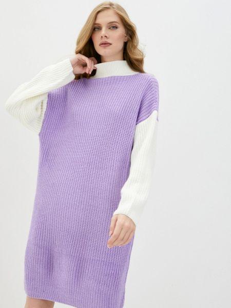 Фиолетовое вязаное платье Liana