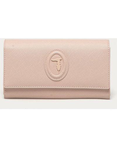 Różowy portfel oversize Trussardi Jeans