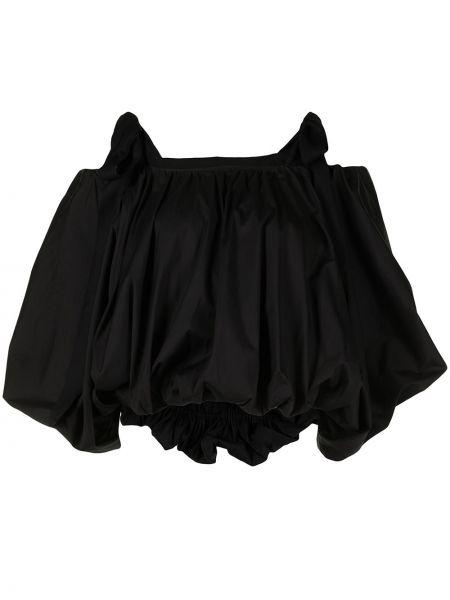 Пышная черная блузка с вырезом Goen.j