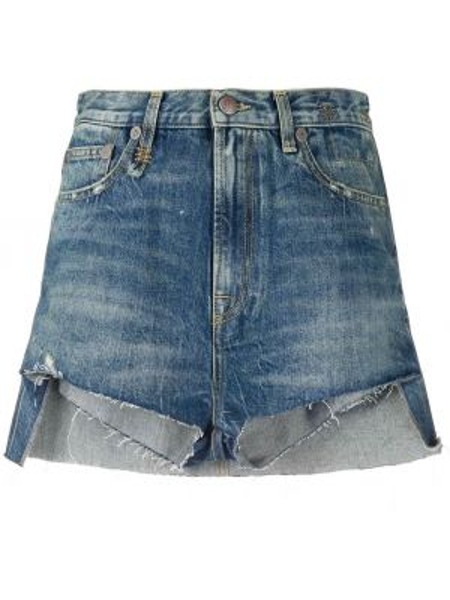 Джинсовые шорты с карманами юбка R13