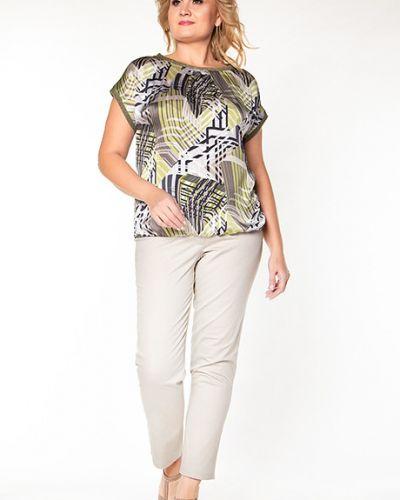 Блузка с коротким рукавом с люрексом зеленый Virgi Style