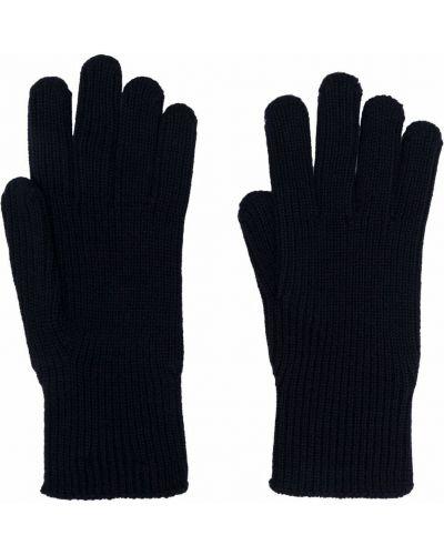 Rękawiczki wełniane - niebieskie Moncler