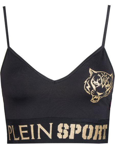 Туника-топ черный топ с логотипом Plein Sport