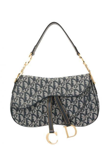 Czarny skórzany torba kosmetyczna z kieszeniami za pełne Christian Dior