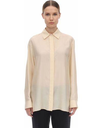Шелковая рубашка - желтая The Row