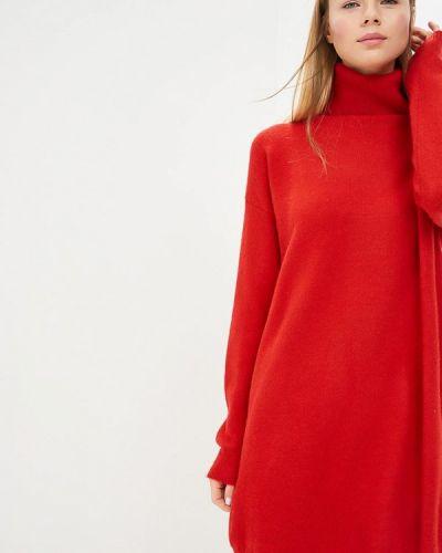Платье вязаное красный By Swan