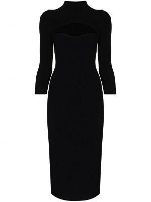 Черное платье из вискозы на шпильке Khaite