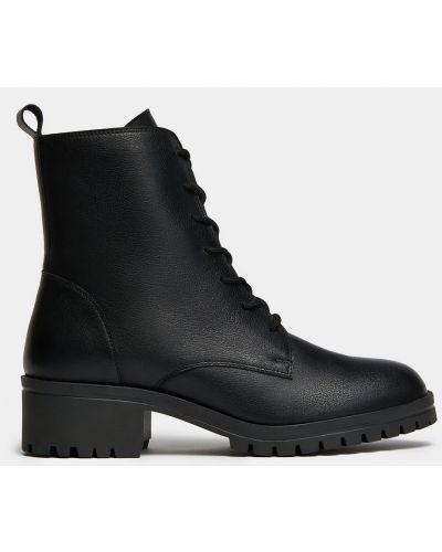 Черные кожаные ботинки милитари Ralf Ringer