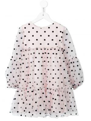 Biała sukienka z printem Charabia
