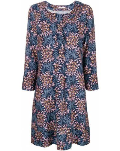 Платье мини с цветочным принтом с V-образным вырезом Kristina Ti