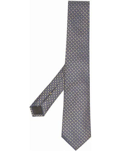 Żółty krawat z jedwabiu w szpic Canali