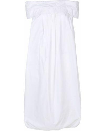 Белое платье с открытыми плечами Ter Et Bantine