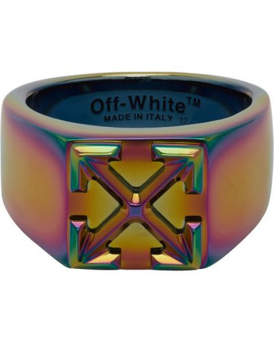 Кольцо белый металлический Off-white
