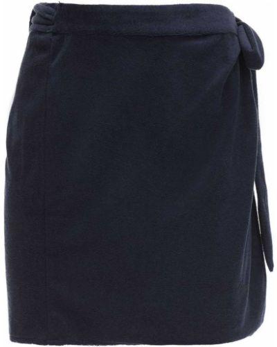 Spódnica mini z wysokim stanem kopertowa bawełniana Ciao Lucia