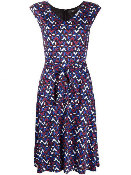 Хлопковое фиолетовое платье без рукавов Weekend Max Mara
