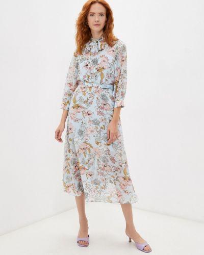 Голубое платье осеннее Elena Andriadi