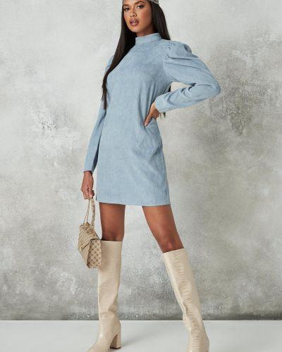 Голубое трикотажное платье Missguided