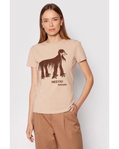 Brązowa t-shirt Weekend Max Mara