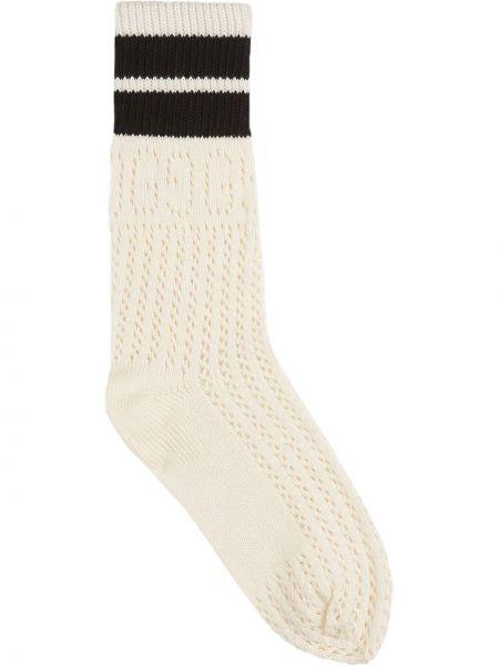 Bawełna bawełna biały skarpety z paskami Gucci