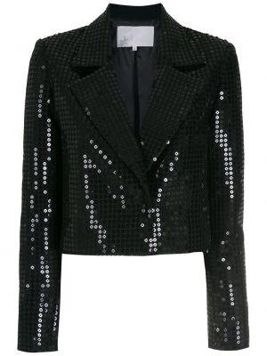 Прямой черный удлиненный пиджак с пайетками Nk
