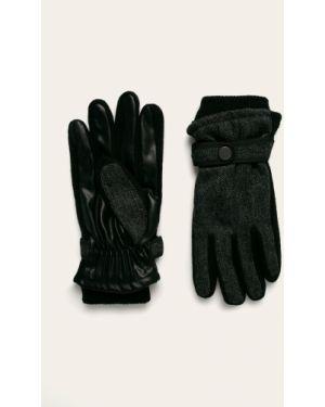 Szare rękawiczki wełniane z bursztynem Medicine