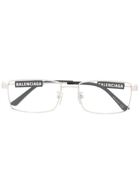 Prosto czarny oprawka do okularów metal prostokątny Balenciaga Eyewear