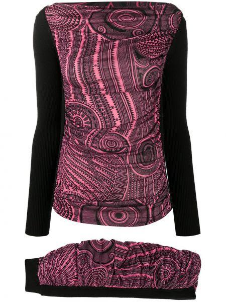 Облегающая черная юбка макси с вырезом круглая Jean Paul Gaultier Pre-owned