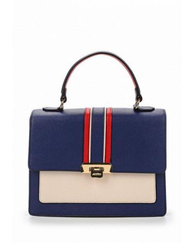 Синяя кожаный сумка Aldo