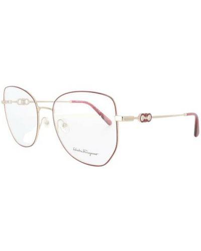 Czerwone okulary Salvatore Ferragamo