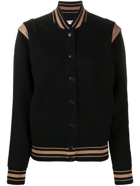 Bawełna czarny długa kurtka z kieszeniami z długimi rękawami Givenchy