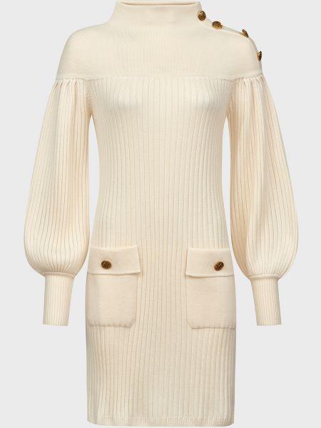 Шерстяное платье - бежевое Luisa Spagnoli