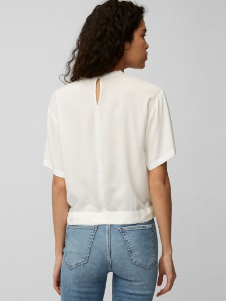 Белая блузка с короткими рукавами Marc O'polo Denim