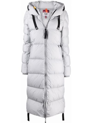 Серое пальто с капюшоном Parajumpers