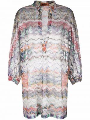 Платье макси с длинными рукавами - белое Missoni