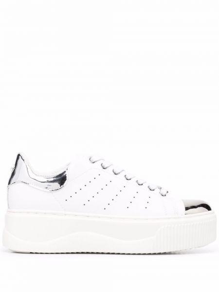 Кожаные кроссовки - белые Cult