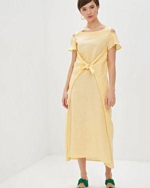 Повседневное платье желтый Dizzyway