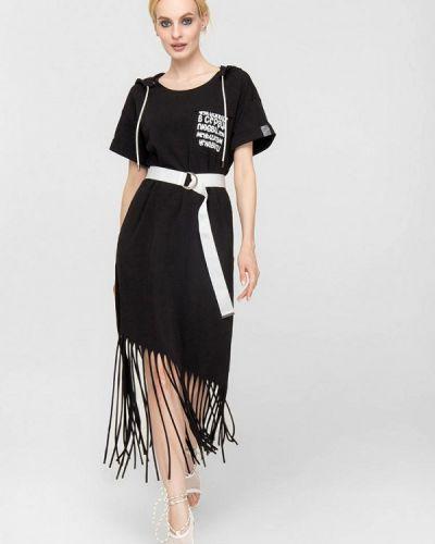 Черное весеннее платье Lo