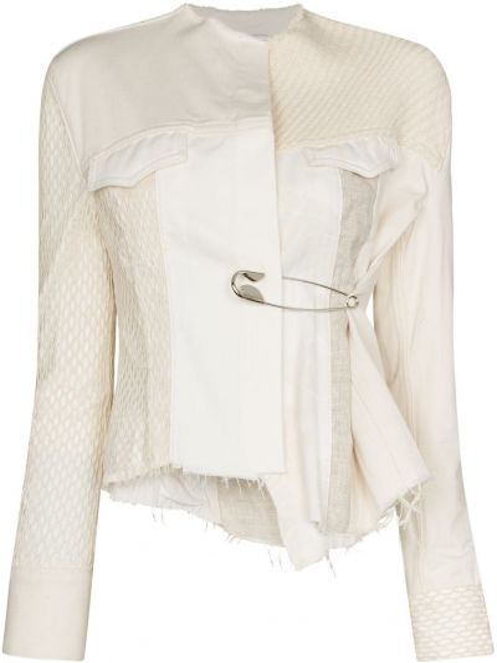 Белый пиджак с карманами на пуговицах Marques'almeida