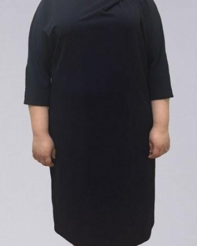 Платье миди с декольте из вискозы Amarti