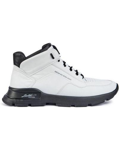 Замшевые ботинки челси - белые Vadrus