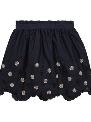 Ватная хлопковая синяя юбка Tartine Et Chocolat