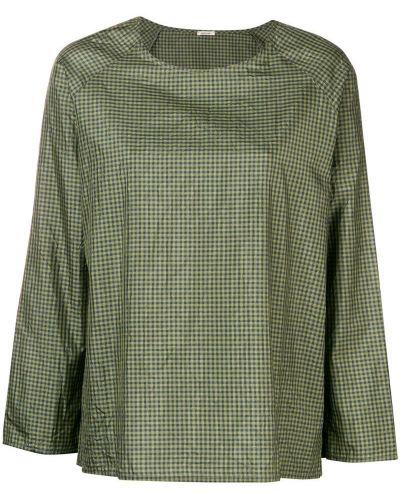 Блузка в клетку зеленый Apuntob
