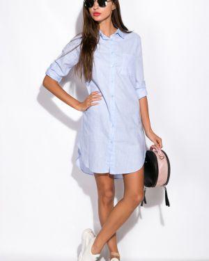 Повседневное платье платье-рубашка с поясом Time Of Style