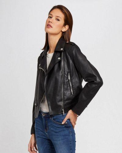 Черная кожаная куртка Morgan