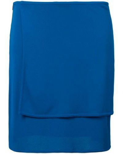 Юбка карандаш винтажная синяя Versace Vintage