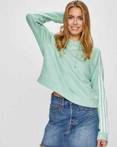 Кофта с капюшоном мятного цвета Adidas Originals