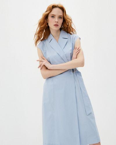 Платье с запахом - голубое Cappellini