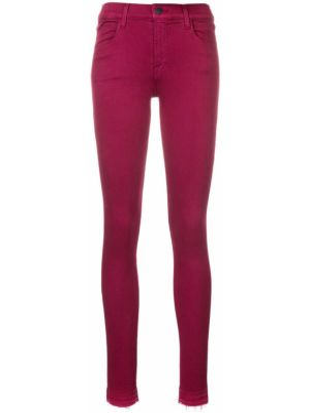 Фиолетовые джинсы-скинни с поясом на пуговицах J Brand